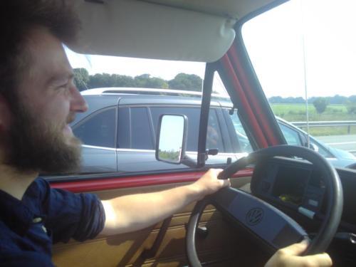 David fährt das Wohnmobil