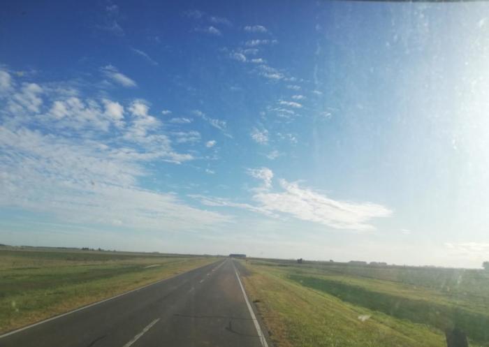 Blick aus dem LKW