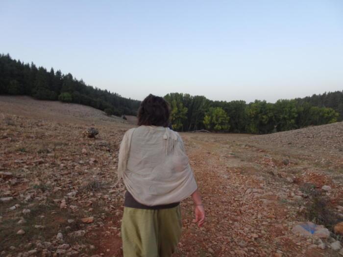 Spazieren durch den Berg
