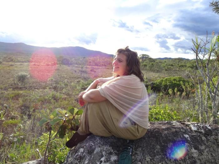 Klara auf Fels