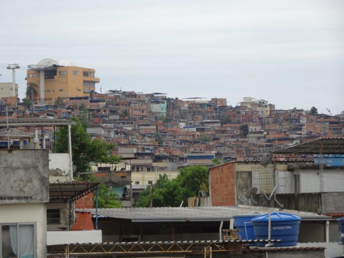 Favela aus der Ferne