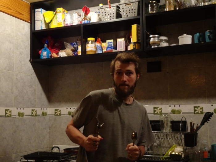 David in der Küche