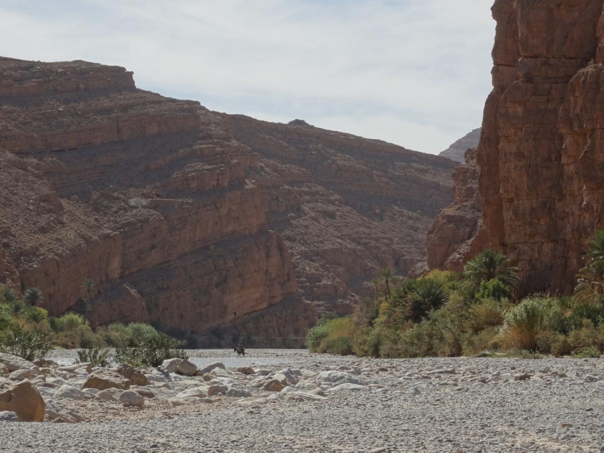 Reiter vor Berg in Marokko