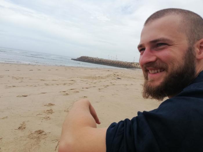 David am Strand