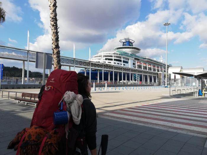 Auf dem Weg zum Schiff