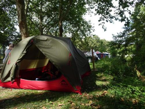 Unser Zelt in Amiens