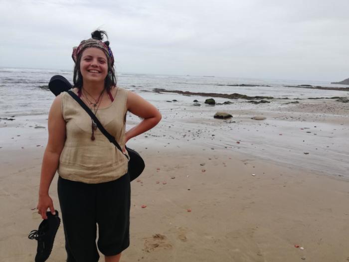 Klara am Strand